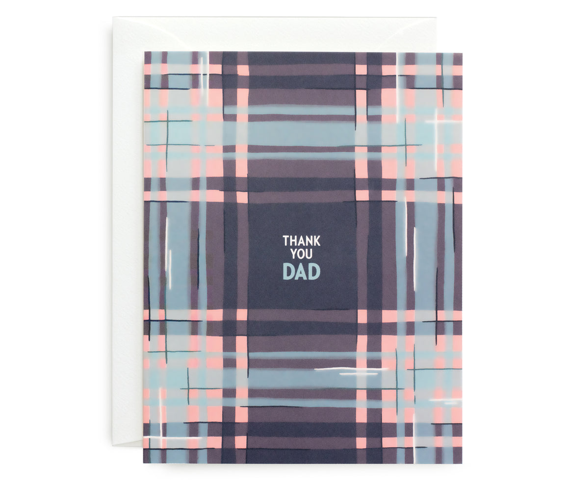 Dad Plaid Card