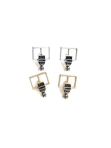 Basketball Hoop Earrings--2 Colors