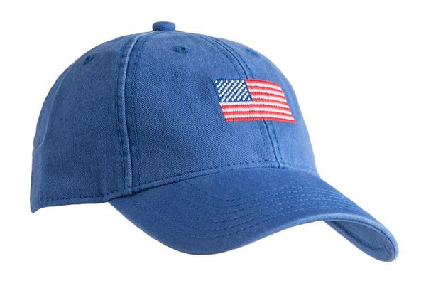 Flag Needlepoint Hat - Bright Navy
