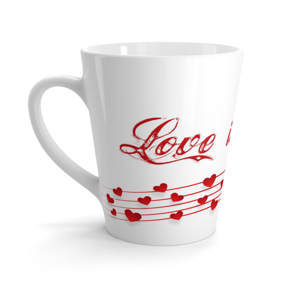 Love is Music Latte Mug - The Fugly Mug Company