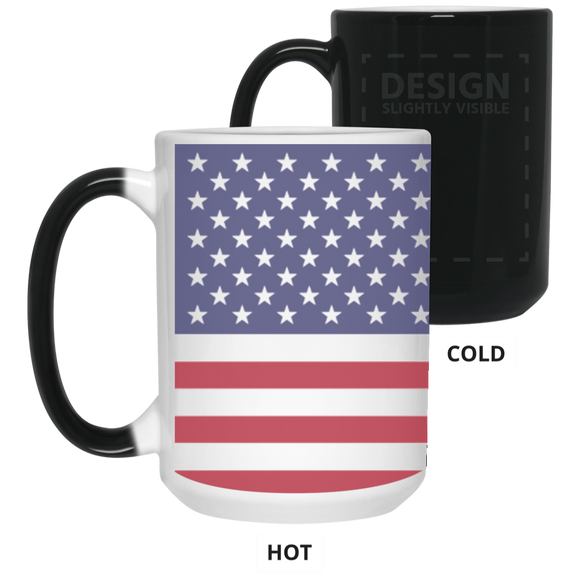 USA Flag 15 oz. Color Changing Mug - The Fugly Mug Company