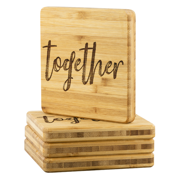 Together Bamboo Coasters - The Fugly Mug Company