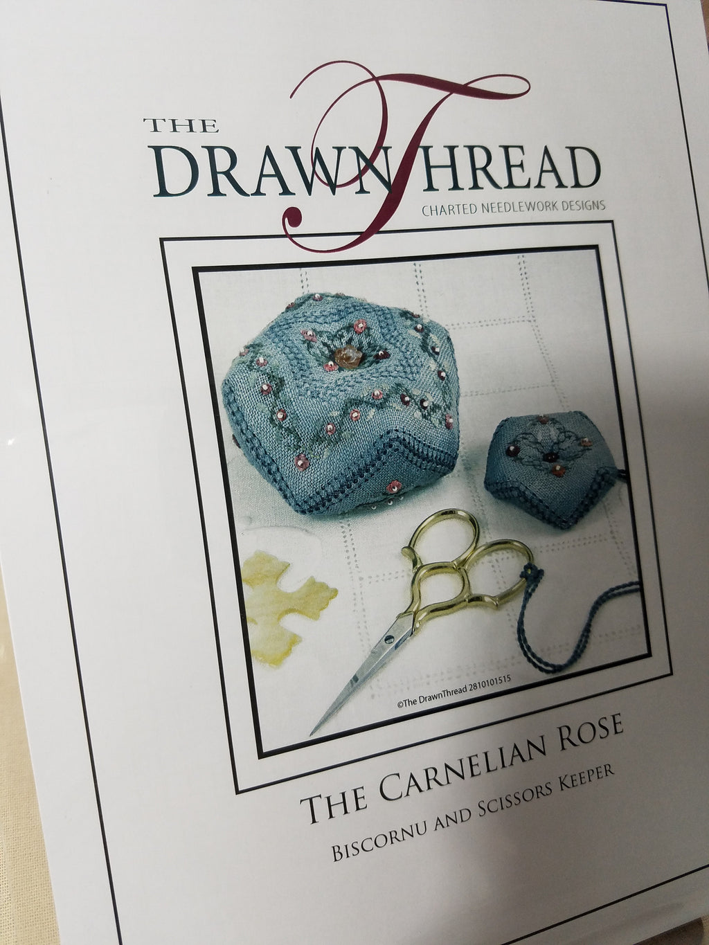 THE CARNELIAN ROSE BISCORNU ~ The Drawn Thread