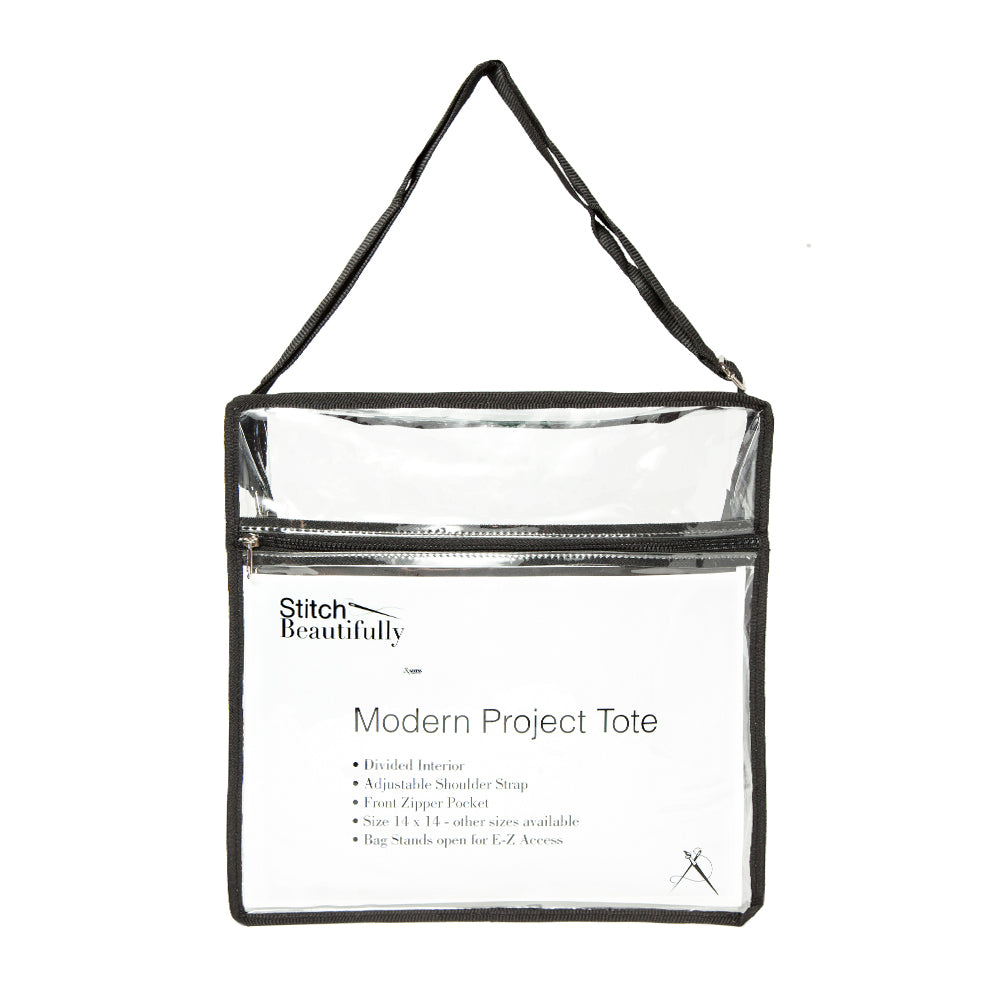 "Modern Project Tote Medium with Divider - Medium -14"" x 14"""