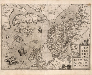 historical map Scandinavia and British Isles 16th century