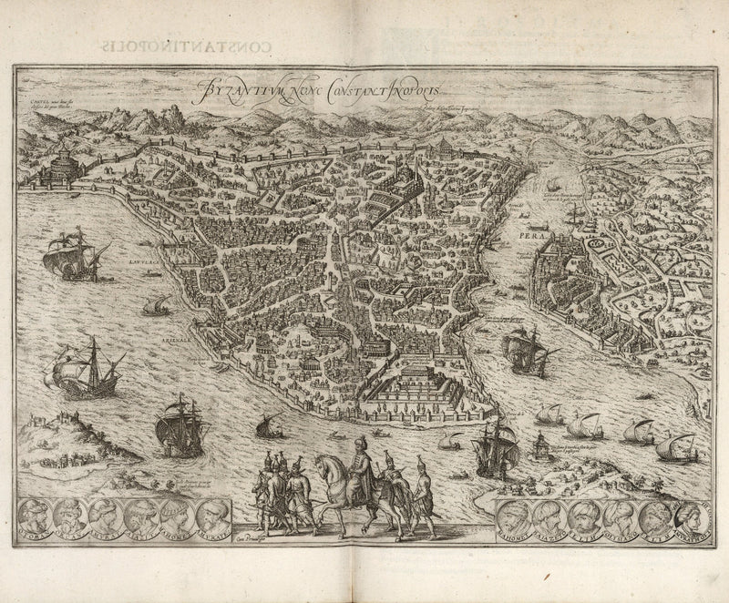 historical map Istanbul or Constantinople