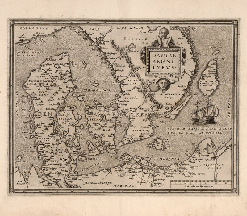 fine art reproduction Denmark 16th century coastal map