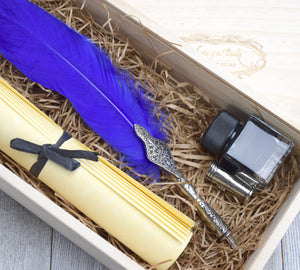 Feather quill pen gift set