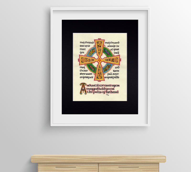 irish celtic cross fine art print