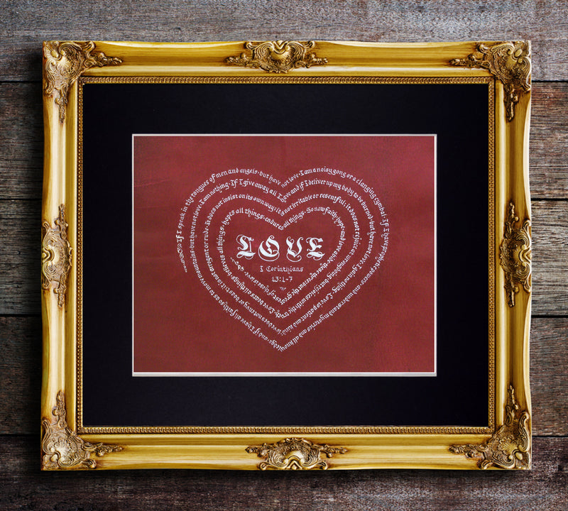 corinthians love is patient art print
