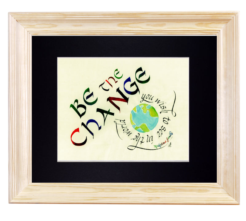 gandhi quote art print in frame