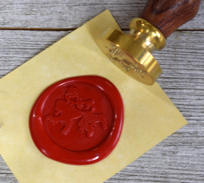 rampant lion wax seal stamp
