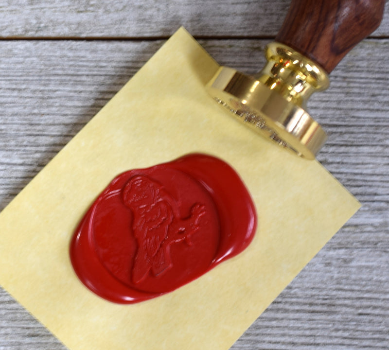 owl sealing wax stamp