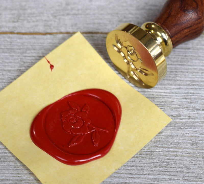 rose sealing wax stamp