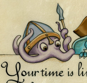 Follow Your Heart Fantasy Art Print with Cute Creatures
