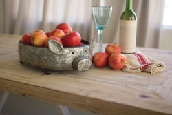 Galvanized Metal Pig Tray/bowl