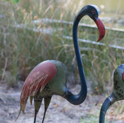 Recycled Metal Flamingos
