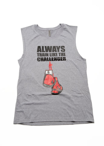 Always Train Like The Challenger Tank Top - Grey