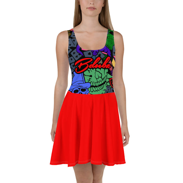 GAMBLERS SKATERS DRESS RED