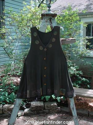Vintage Blue Fish Clothing 1993 Column Vest Black Sand Tiny OSFA- Bluefishfinder.com