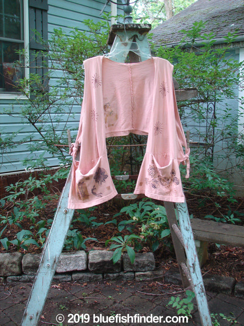 Vintage Blue Fish Clothing 1994 Pocket Vest Garden Fairy Pink Granite OSFA- Bluefishfinder.com