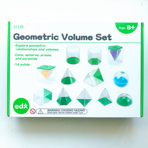 Geometric Solids Volume Set (with lids that can open)