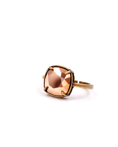 Rose Gold Crystal Cocktail Ring