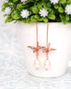 Rose Gold Origami Crane Earrings