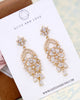 Gold CZ Chandelier Earrings