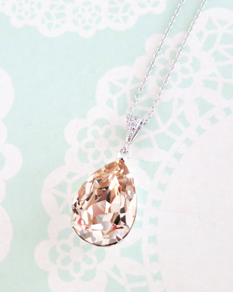 Light Silk Crystal Necklace