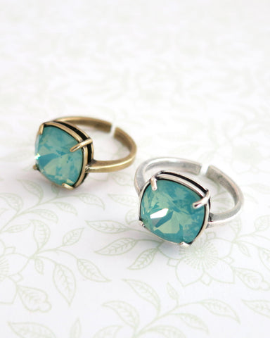 Pacific Opal Crystal Cocktail Ring