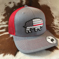 RDHC36 Thin Red Line Buffalo Red Dirt Hat Company