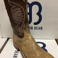 "Anderson Bean Tan Zebra 11"" Wide Square toe"