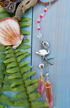 Flamingo Beach Car Charm/Rearview Mirror Accessory