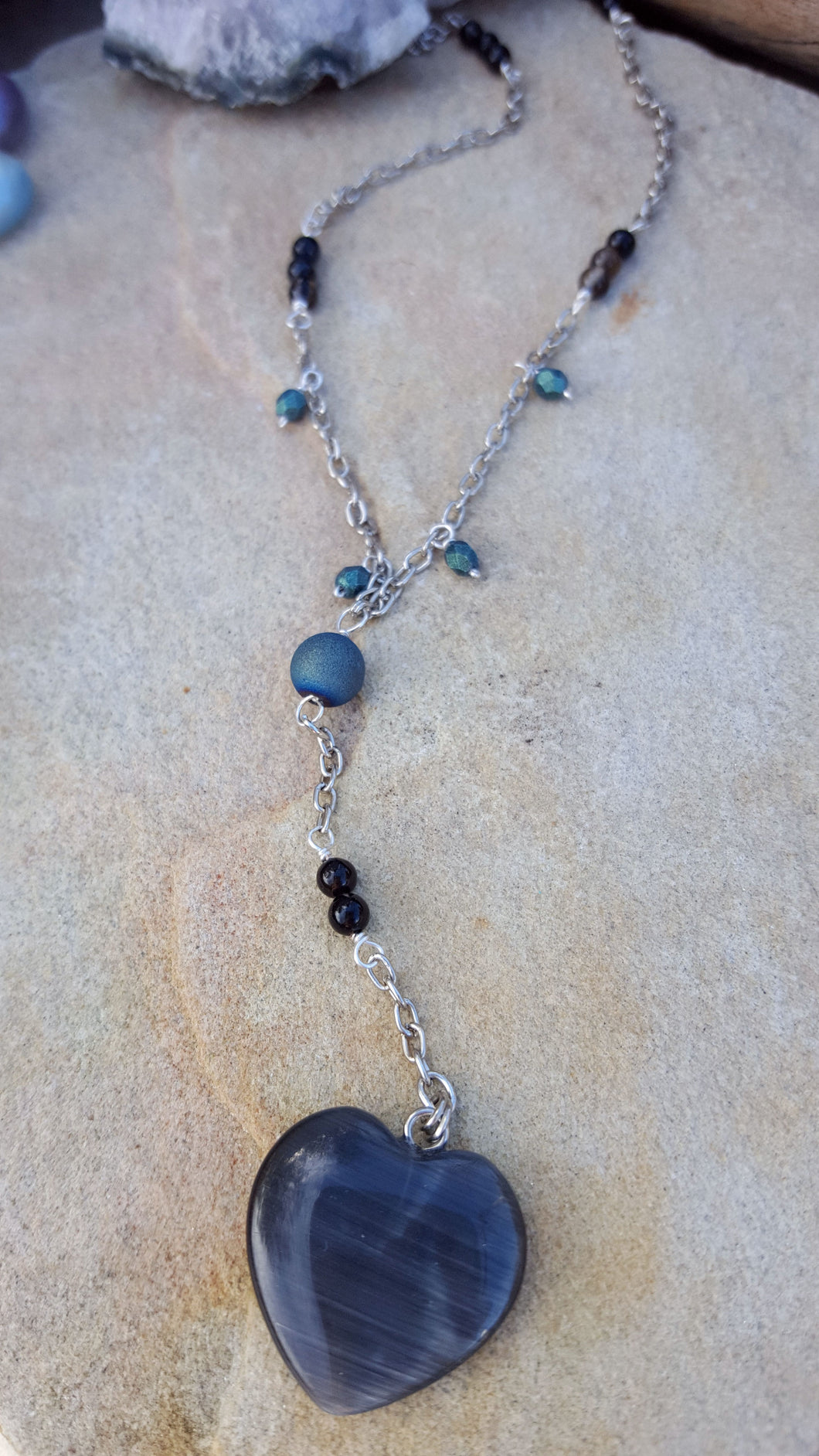 Sea Witch Heart Lariat Necklace