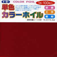 "Solid Red Foil 12"" 24 Sheets"