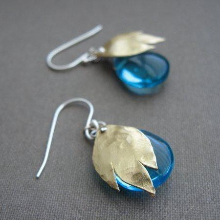Fire and ice earrings in copper or bronze - Nora Catherine