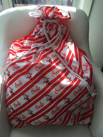 Santa Sack - Christmas Stripe