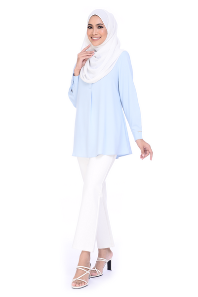 Blouse Maddy - BL356-D - Baby Blue