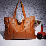 New 100% Genuine Leather Bag Large Women Handbags - The Accessorie Hub