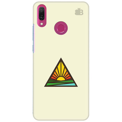 Triangular Sun Huawei Y9 2018 Cover
