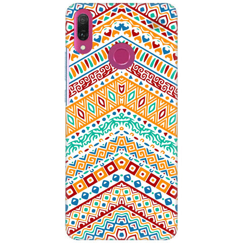 Wavy Ethnic Art Huawei Y9 2018 Cover