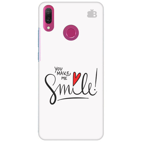 You make me Smile Huawei Y9 2018 Cover