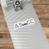 ASCC PRIDE - Kiss-Cut Stickers - American Style Clothing Company