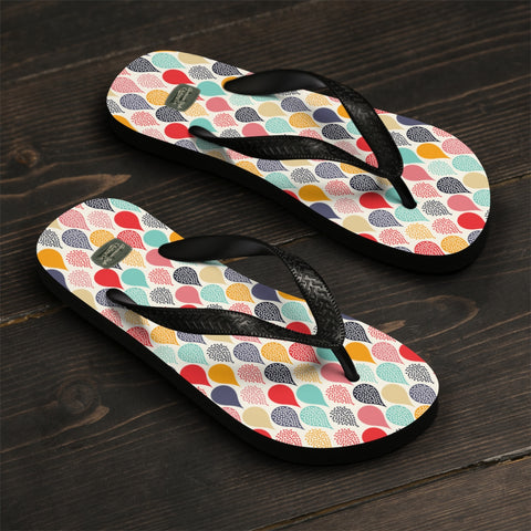 COLORFUL DROPS - Flip-Flops - American Style Clothing Company