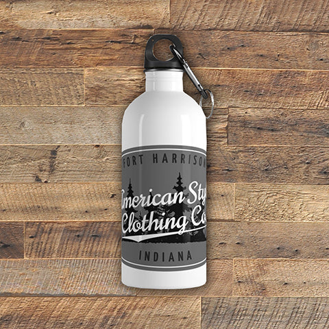 ASCC GRAY - Stainless Steel Water Bottle - American Style Clothing Company