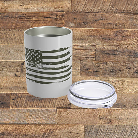 DISTRESSED FLAG - Tumbler 10oz - American Style Clothing Company