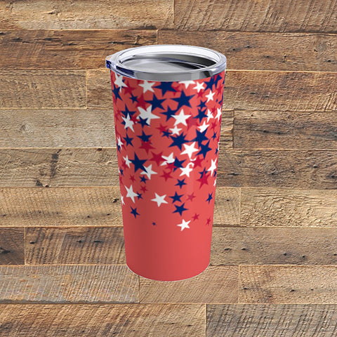 PATRIOTIC STARS - Tumbler 20oz - American Style Clothing Company