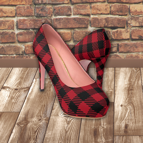 PLAID TO MEET YOU - Women's Platform Heels