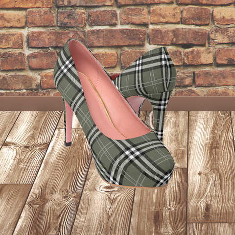 SCOTTISH TARTAN - Women's Platform Heels
